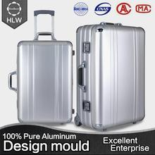 HLW High quality new design abs/pc printed luggage