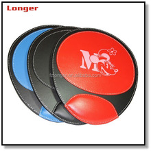 Fancy unique durable pu leather computer gaming mouse pad