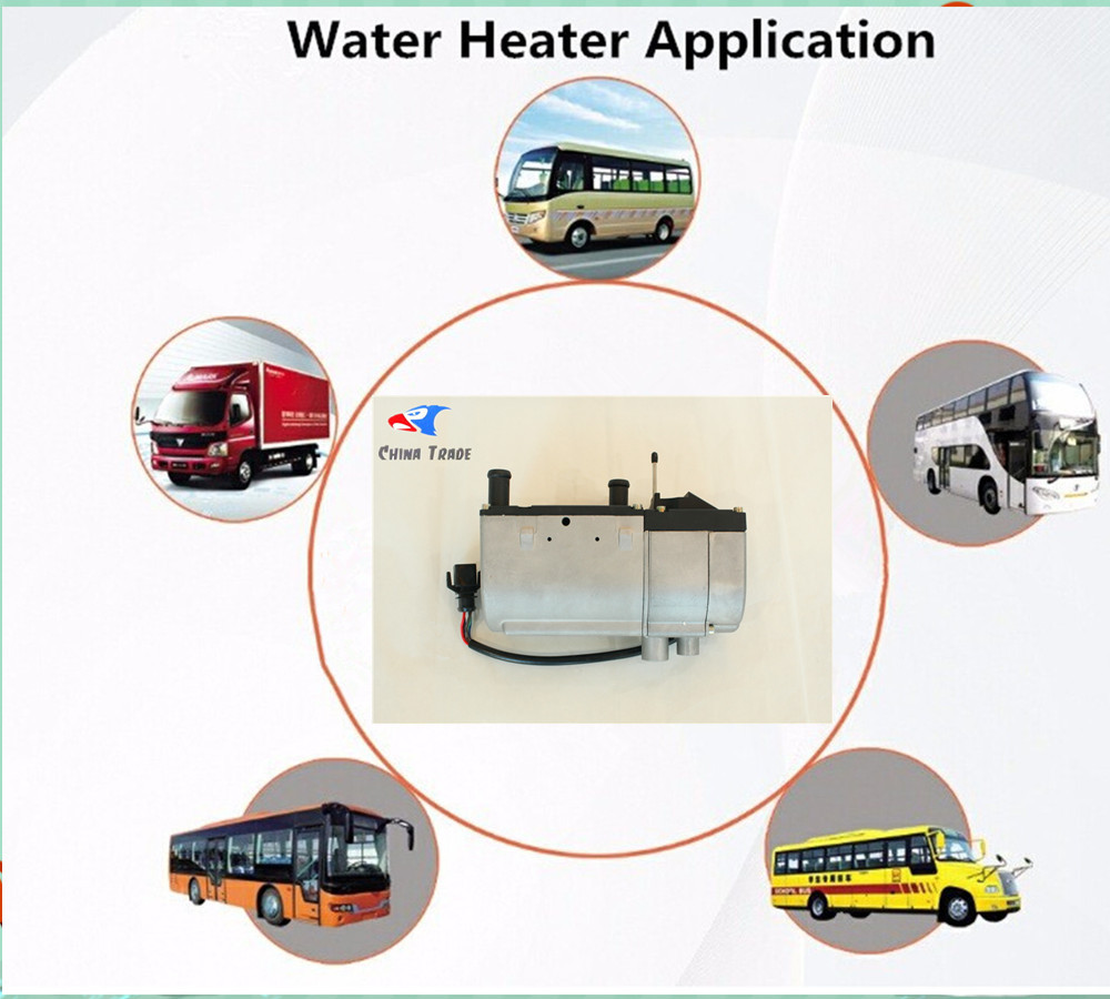 2017 New Diesel Electric Liquid Parking Heater 5KW 12V with Water Pump Outside