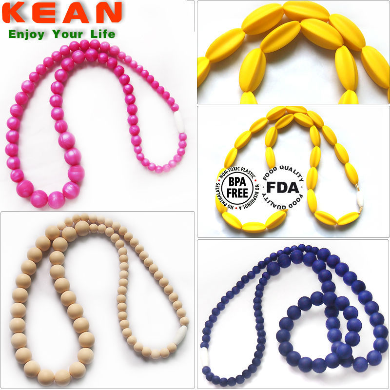 2014 Fashion BPA Free Chunky Teething Trendy Necklaces 2014