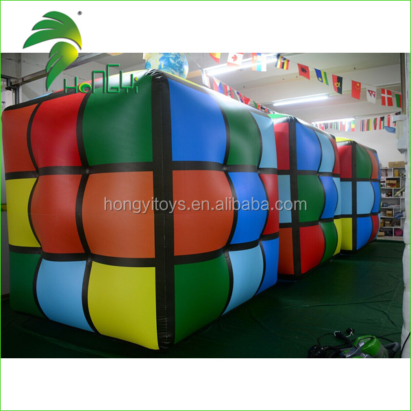 Custom Advertising Inflatable Helium Square / Rubik's Cube / Dice / Inflatable Cube Square Balloon