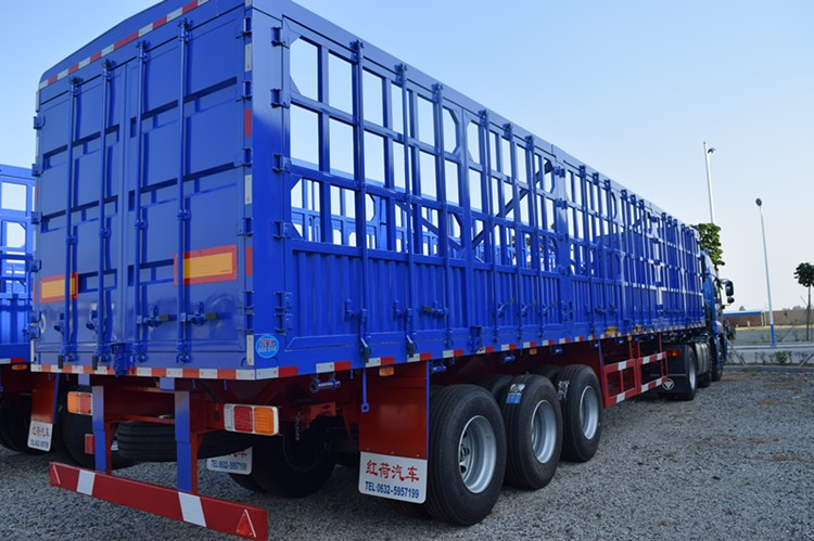 Three axles 40ton,50ton bulk cargo cage semi trailer