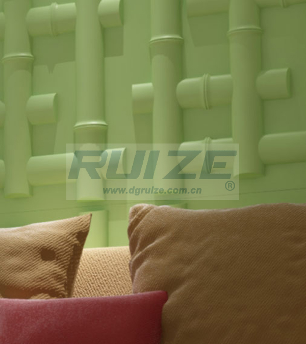 Eco-friendly PVC colored 3d wall panels