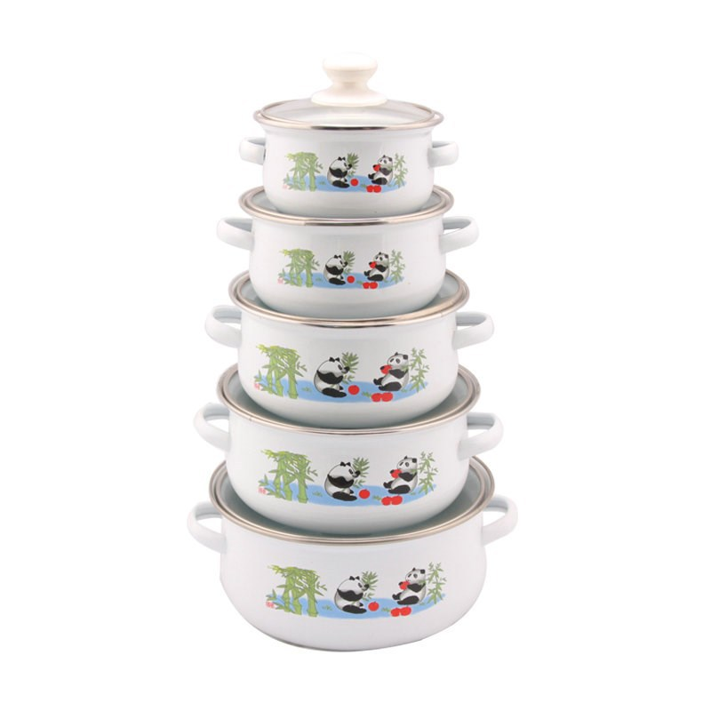 made in china porcelain enamel cookware sets
