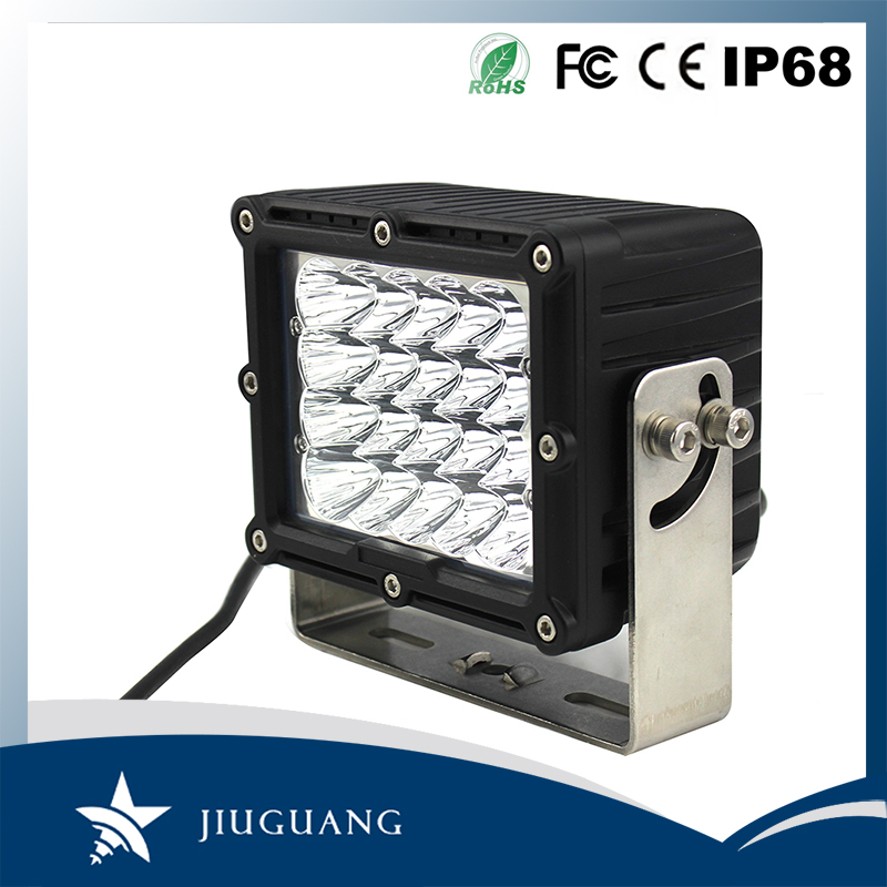 Super bright portable ce 6.3 inch square 100w led 12v work lights for truck