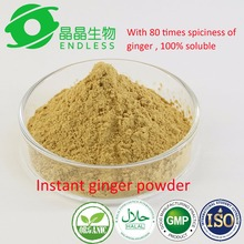 100% oganic water soluble instant ginger extract powder for ginger product