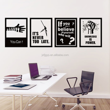 Inspirational you can quote art motivational Vinyl wall sticker company culture decor