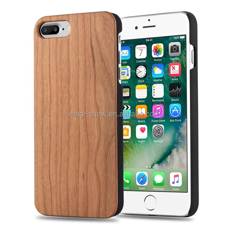 Promotional products,mobile phone accessories, bamboo wood phone case for iphone 8 Plus