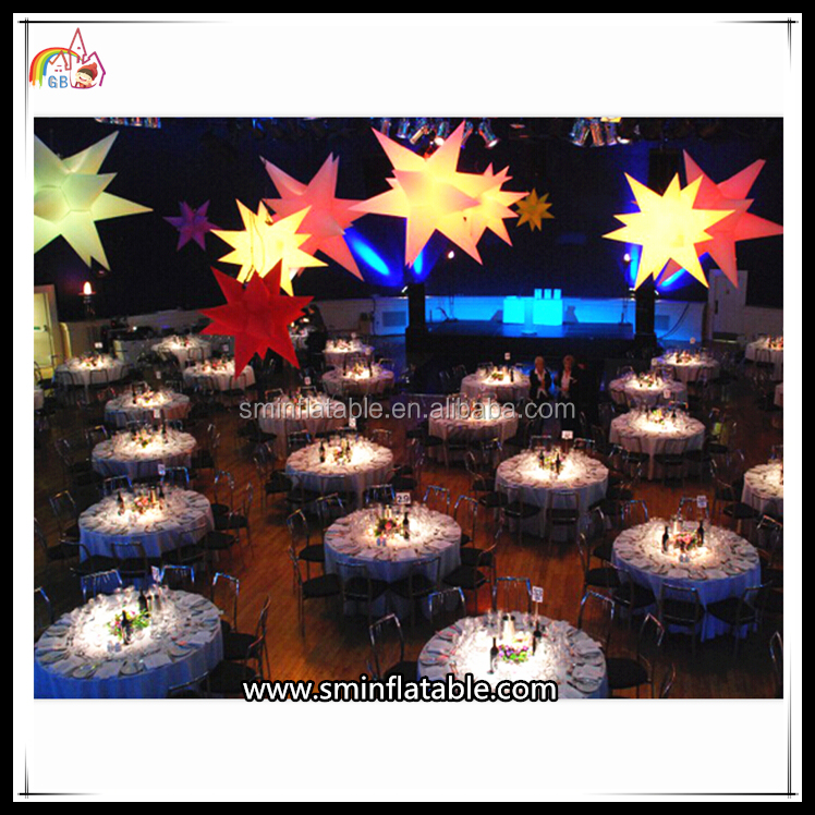 Lighting Star Wedding Party Decoration Hanging Inflatable Best Price LED Light Star