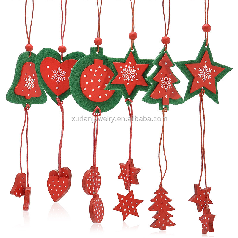 New design outdoor wood yiwu supplies christmas tree decoration 2017