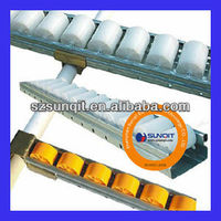 plastic roller track/conveyor placon for pipe rack
