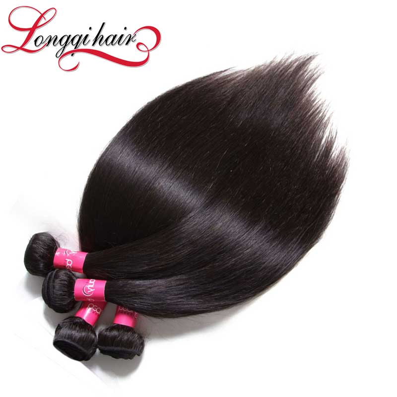 Lq Beauty Hair Products Straight Virgin Human Hair Weave, Factory Price Gradeaaaa Virgin Russian Hair Extensions