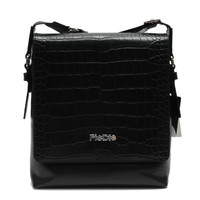 CSYFB026-001 High end black croco leather messenger bags mens cross body bag for Tablet Case