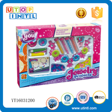 Promotion gift Colorful fashion girls beauty play bead set jewelry toy set for girl