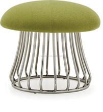 living room furnitures stainless steel stool mushroom stool
