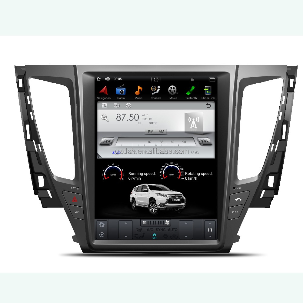 12.1 inch android car <strong>dvd</strong> player for MITSUBISHI PAJERO Sport/<strong>L200</strong> 2016- tesla style vertical screen 32G 64g 07-16 year WS-1233S