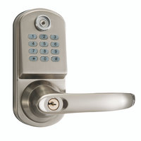 Electronic digital pushbutton keypad door lock
