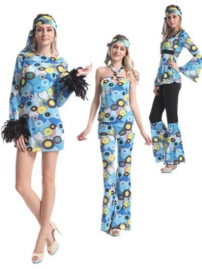 Walson 2016 go go dancing hippie disco costume 60s 70s retro dress up costume