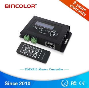 BC-100 DC9v LCD display DMX 512 RGB led controller with RF remote control