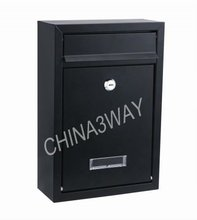 free standing cast iron letter mailbox for rural area with newspaper holder