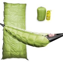 Big & Tall hollow fiber yellow sleeping bag for camping and traveling