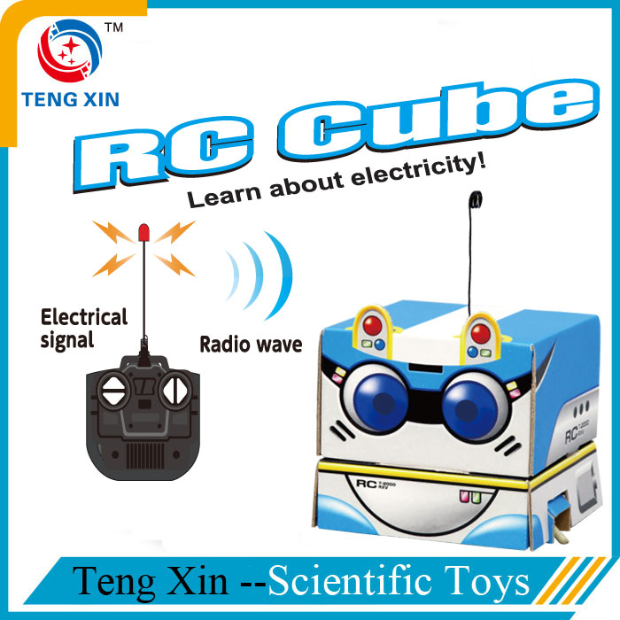 Science paper craft rc robot toy for children