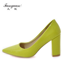 China Wholesales High quality women Sexy Chunk High Heels shoe dress party sexy pointed toe shoes