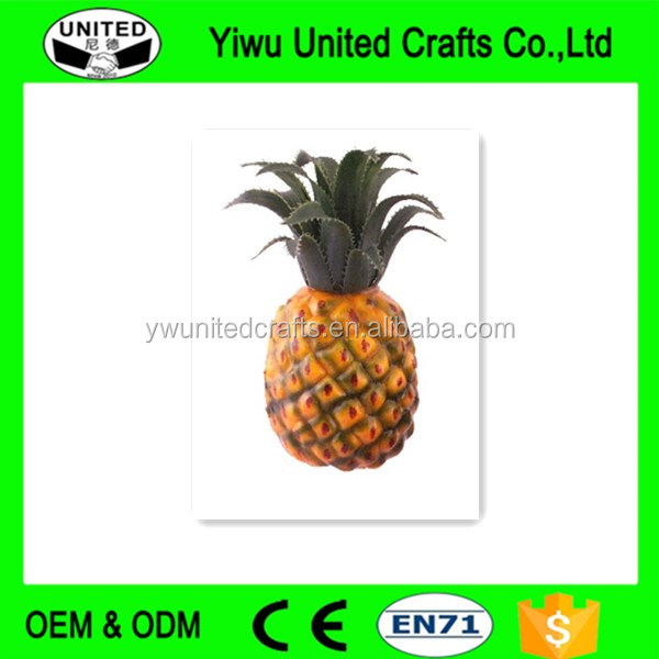 2016 China supplier Decoration Artificial Plastic Fake Dried pineapple Fruit