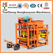 Road construction equipments for QTJ4-28 Cement concrete color paver brick making machine