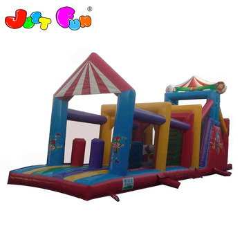 clown  inflatable slip n slide obstacle courses for kids