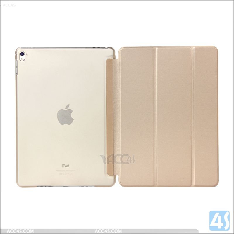Clear PC PU Leather Front Smart case cover for ipad pro 9.7