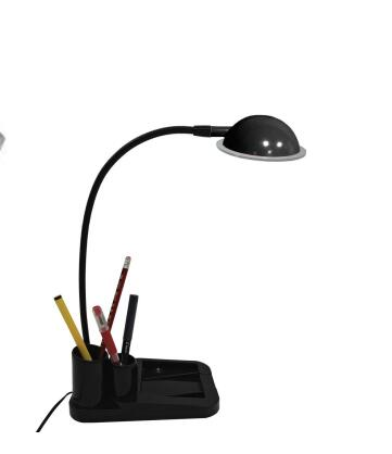 Children reading and studying office desk lamp with writting case