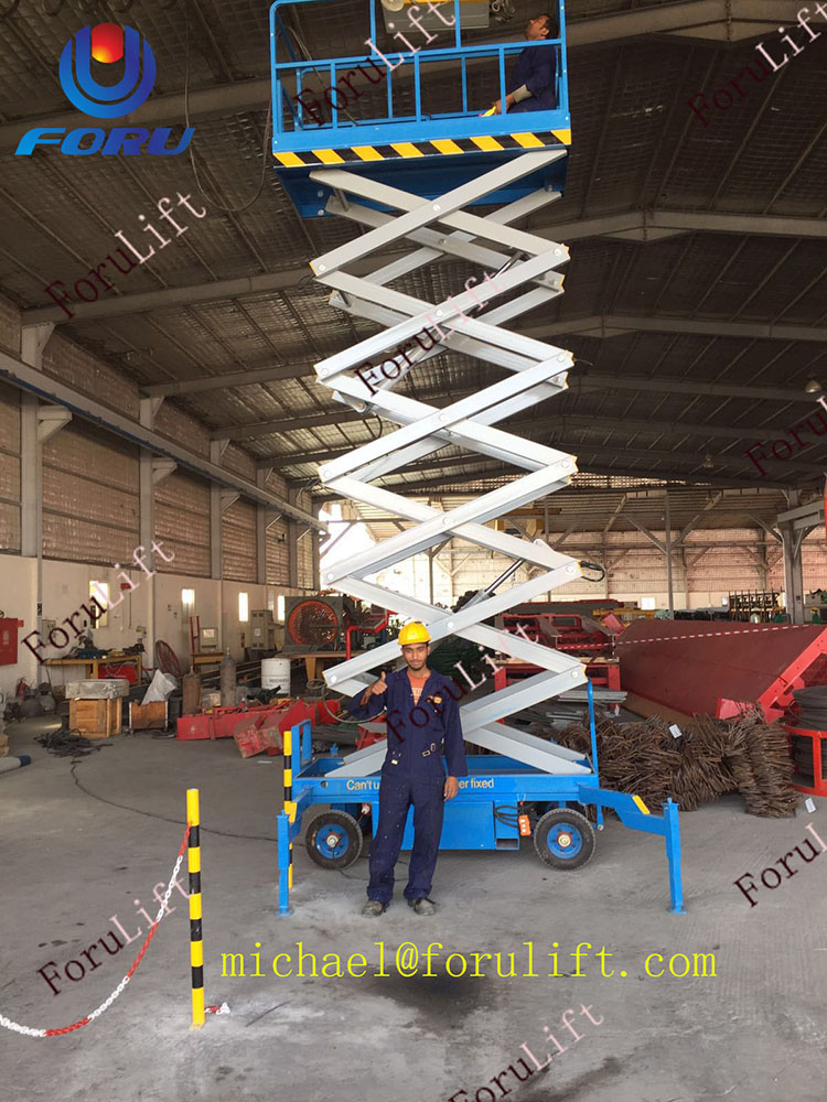 8m CE approved hydraulic mobile scissor lift scaffolding