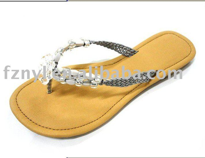 Hot sale summer beach shoes ladies sandals cheap summer sandals wholesale