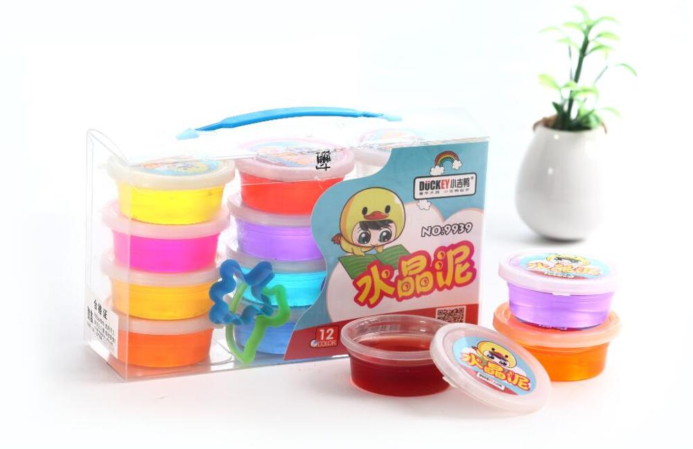 DUCKEY magic colorful crystal educational clay