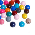 Acrylic Spacer Beads Round At Random About 12mm Dia