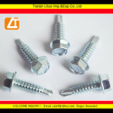 hex head self drilling screw with reduced point