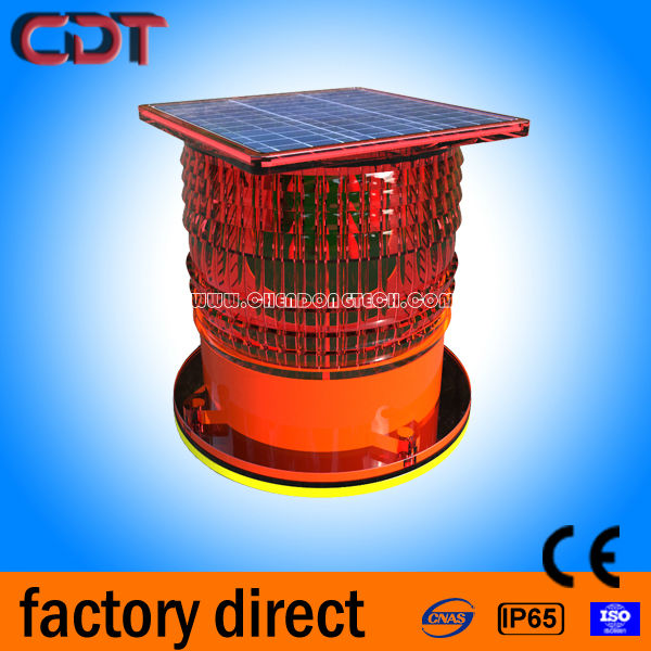 solar led aviation obstacle light / aircraft flashing warning /tower obstruction light