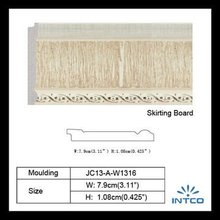Eco-friendly Oak Plastic Baseboard