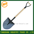 garden shovel with ash wooden handle