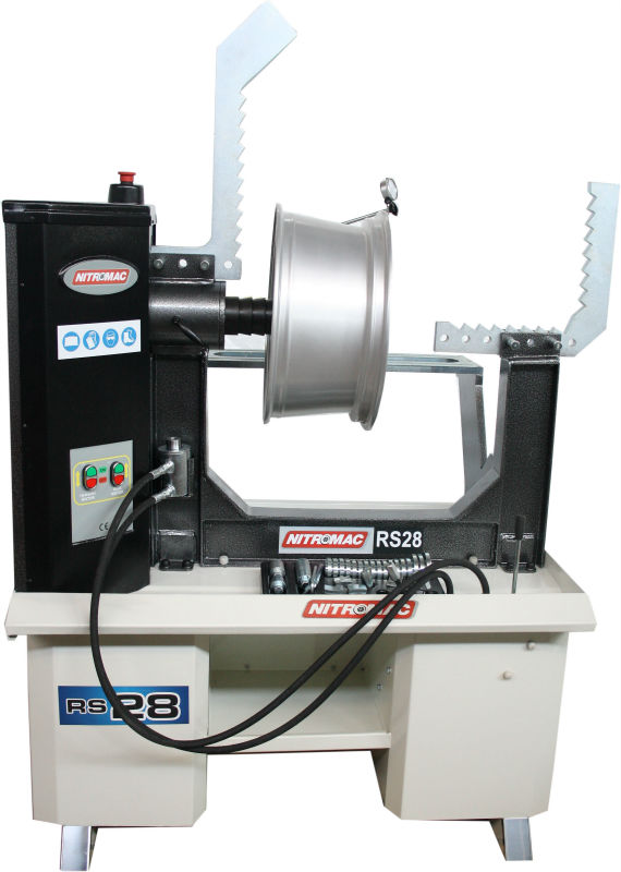 RS28wl 10''-28'' RIM STRAIGHTENING MACHINE WITH LATHE