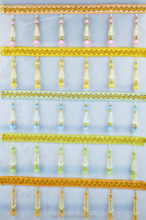 100% polyester curtains decorative beads tassels fringe trims,wholesale cheap curtain lace