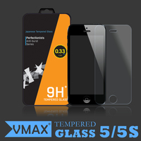 Ultrathin 0.2MM 9H Waterproof Mobile Phone Tempered glass screen protector for iPhone 5 / 5s