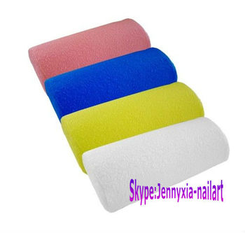 nail art arm rest/towel cloth surface with sponge