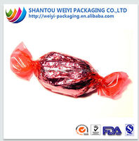 Chocolate candy wrapper/ plastic candy wrapper/ hard candy wrapper