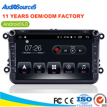 Hot sell 2 Din Volkswagen Media System Vw Android Radio Car Stereo