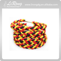 Fashion and Coloful Braided Elastic Hair Band with metal clasp