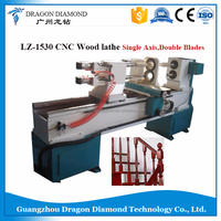 LZ-1530 3D CNC wood turing lathe with double blades stair leg wood table hot sale