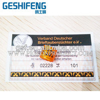 DV14 pigeon ring with certificate cards in stock for racing pigeons 0.8usd/pair pigeon ring