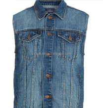 Custom Mens Denim Vest Wholesale/Jean Vest for Men Wholesale